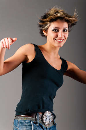 dancing woman photo