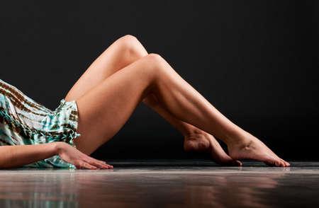long feet: female legs