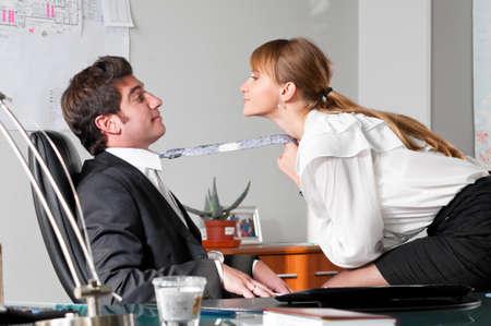 flirting at work Stock Photo - 9094598