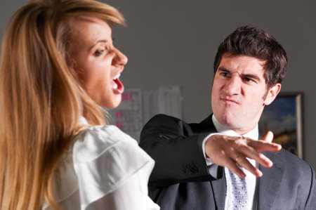 violence at office Stock Photo - 9094597