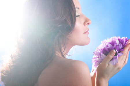 woman with flower Stock Photo - 9094482