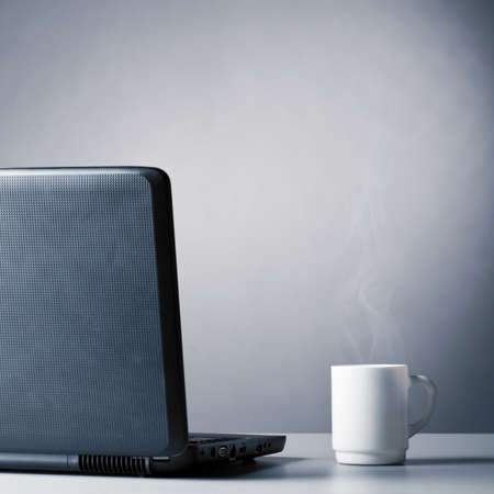 laptop and cup Stock Photo - 9176066