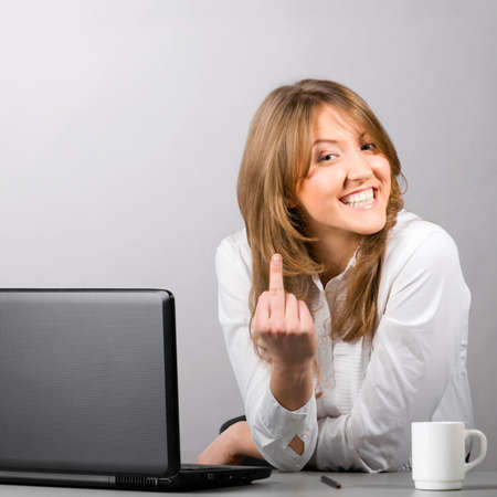 business middle finger Stock Photo - 9176065