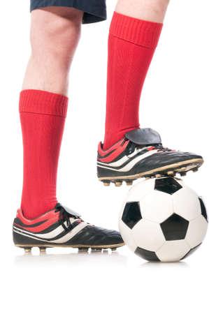 pies masculinos: futbolista. Foto de archivo