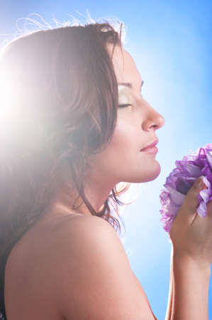 woman with flower Stock Photo - 9402129