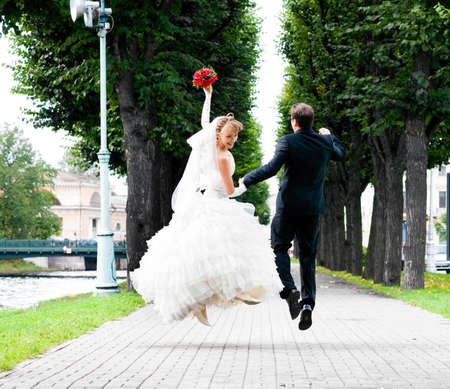 wedding jump photo
