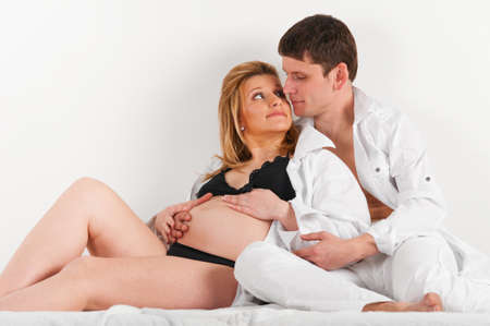 husband and pregnant wife Stock Photo - 9470035