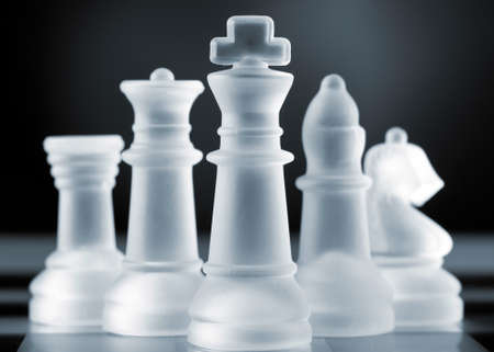 mind game: chess pieces Stock Photo