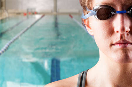 woman swimmer photo