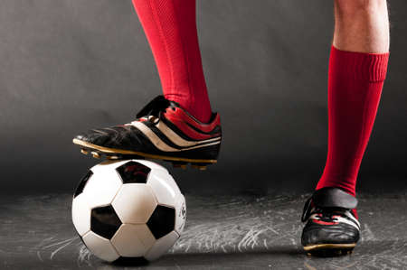 soccer players: legs of soccer player