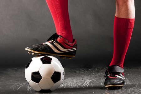 jugadores de futbol: piernas de futbolista.