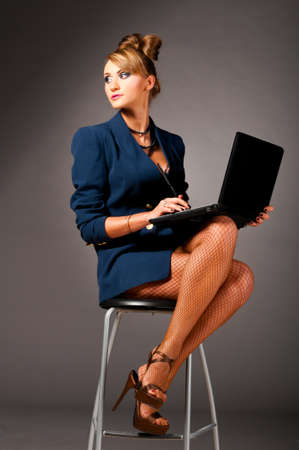 woman at office photo