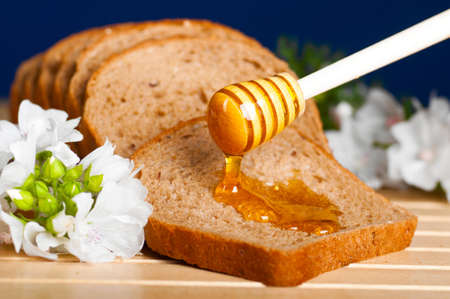 honey on bread photo