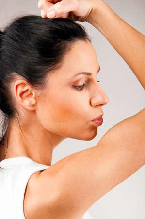 kissing biceps Stock Photo - 9999598