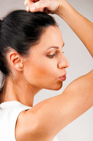 kissing biceps Stock Photo - 9999598