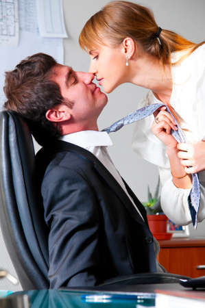 seducing the boss Stock Photo - 10002560