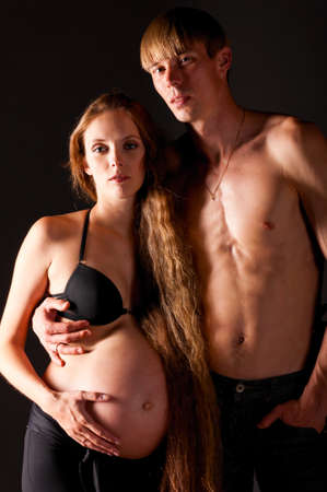 pregnant woman and man Stock Photo - 10305285