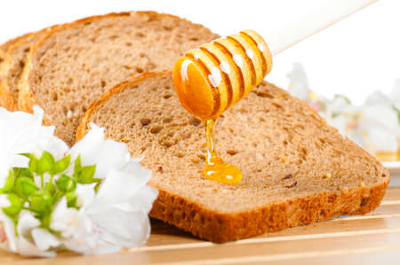 honey and bread photo