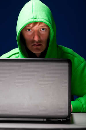 young hacker Stock Photo - 10364888