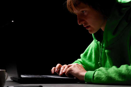 young hacker Stock Photo - 10364855
