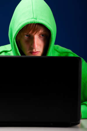 young hacker Stock Photo - 10364876