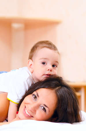 mother and son at home Stock Photo - 10423785