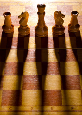 wooden chess pieces Stock Photo - 10423807