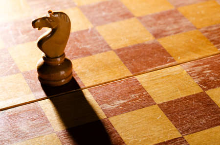 board games: wooden chess pieces Stock Photo