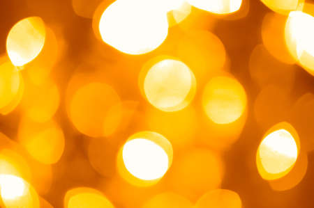 festive golden lights photo