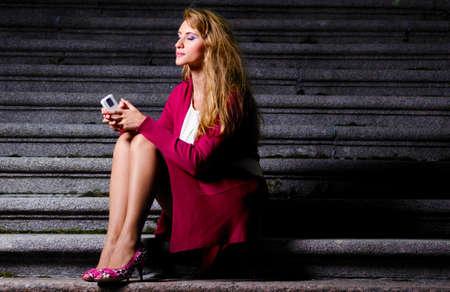 classy woman: fashionable woman Stock Photo
