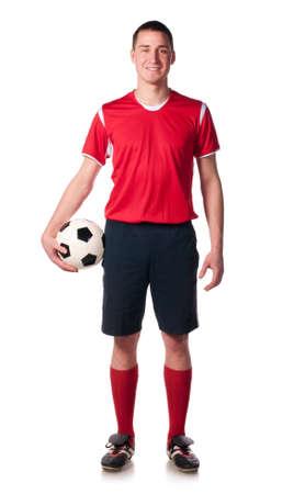 full uniform: soccer player