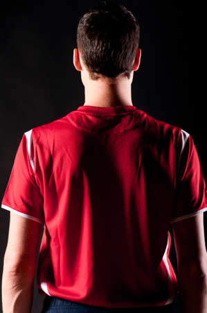 back shots: soccer player