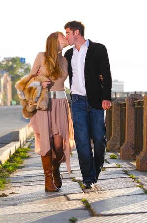 love kiss: attractive couple
