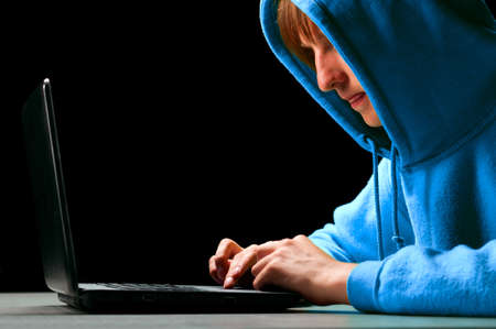 computer hacker: hacker Stock Photo