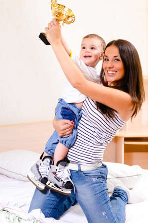 mamma e figlio: vincitori