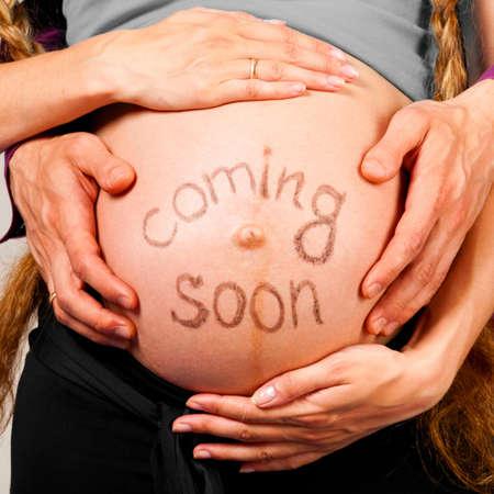 mujeres embarazadas: Pr�ximamente Foto de archivo