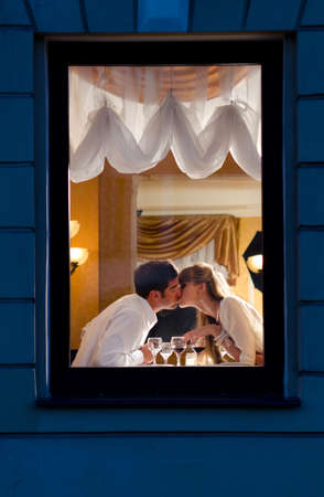 couple at restaurant photo