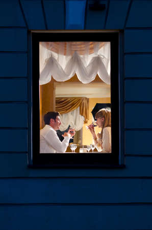 couple at restaurant Stock Photo - 10769401