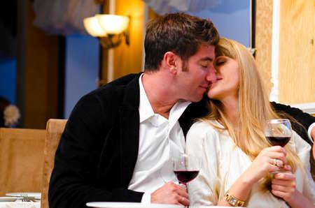 couple at restaurant photo