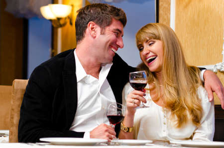 couple at restaurant Stock Photo - 10769469