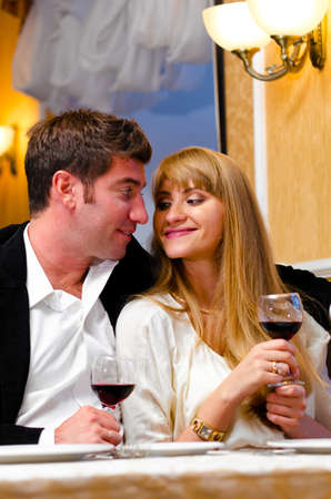 couple at restaurant Stock Photo - 10769471