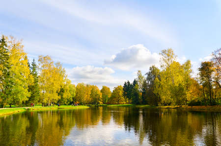 beautiful autumn lake Stock Photo - 10769435