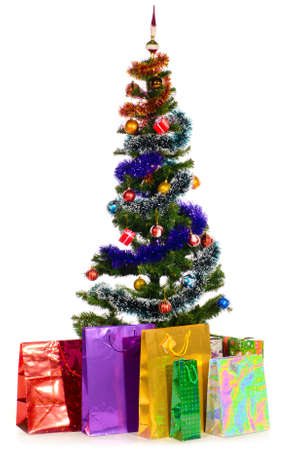 decorated christmas tree Stock Photo - 10891315