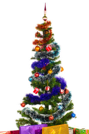 decorated christmas tree Stock Photo - 10891319