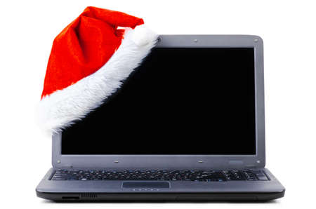laptop with santa hat Stock Photo - 10930721
