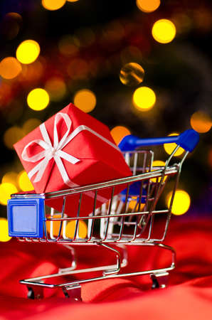 shopping cart with decorative ball Stock Photo - 10930720