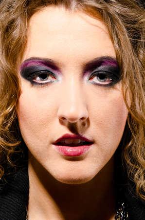 glam rock woman photo