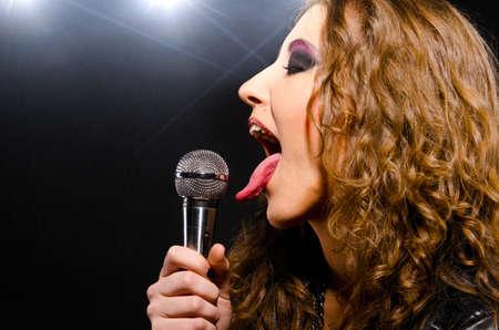long tongue: singing rock music