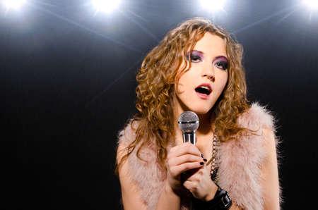stage make up: singing rock music