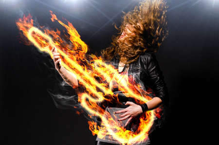 playing rock music Stock Photo - 11144972